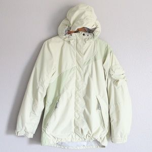 Columbia Light Green Hooded Coat Jacket S